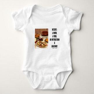 Interjección del verbo del sustantivo del postre y body para bebé
