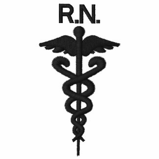 Interknit Medical Couture: RN Zip Up Sweater Embroidered Hooded Sweatshirt