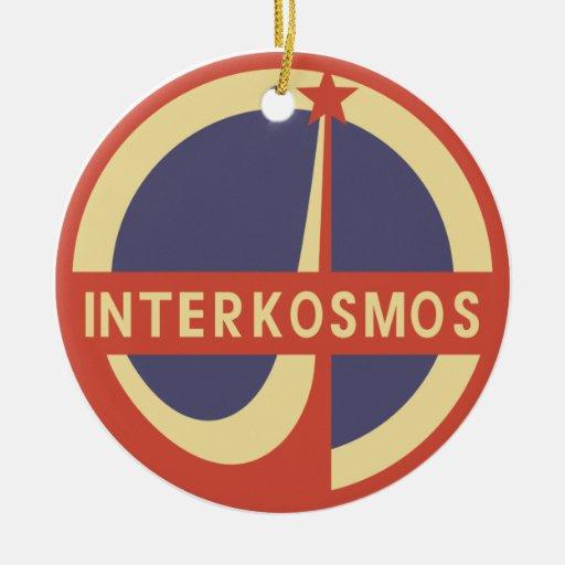 Interkosmos Double-Sided Ceramic Round Christmas Ornament