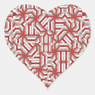 Interlace Tribal Heart Sticker