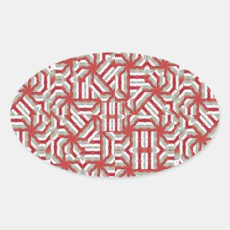Interlace Tribal Oval Sticker