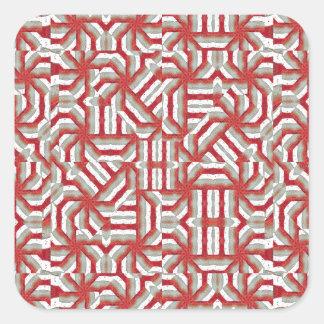 Interlace Tribal Square Sticker