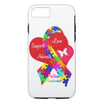 Interlaced Autism Ribbon iPhone 7 Case