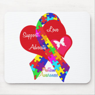 Interlaced Autism Ribbon Mouse Pad