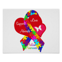 Interlaced Autism Ribbon Poster