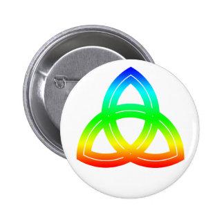 Interlaced Double Triquetra Button
