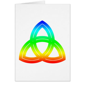 Interlaced Double Triquetra Card