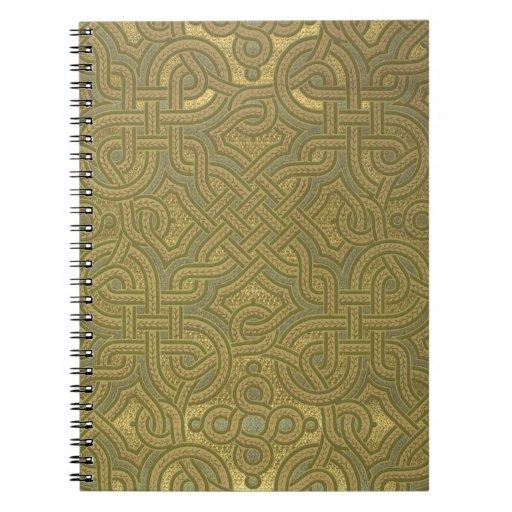Interlaced metallic wallpaper, 1880-1890 note book