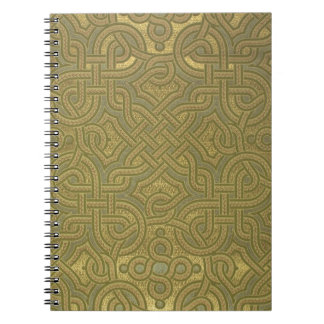 Interlaced metallic wallpaper, 1880-1890 spiral notebook
