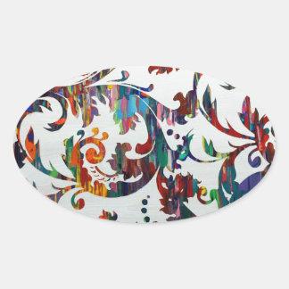 Interlaced Oval Sticker