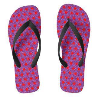 INTERLACED red and blue ~.jpg Flip Flops