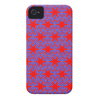 INTERLACED: RED & BLUE ILLUSION  ~ Case-Mate iPhone 4 CASE
