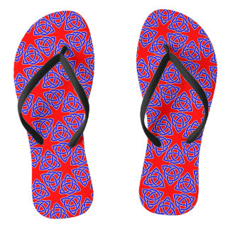 INTERLACED: RED & BLUE ILLUSION  ~ FLIP FLOPS