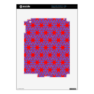 INTERLACED: RED & BLUE ILLUSION  ~ SKIN FOR iPad 2