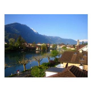 Interlaken and Unterseen Postcard