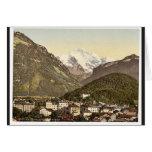 Interlaken, con Jungfrau, Bernese Oberland, Switz Tarjetón