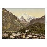 Interlaken, con Jungfrau, Bernese Oberland, Switz Tarjeton