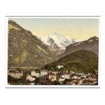 Interlaken, con Jungfrau, Bernese Oberland, Switz Tarjetas Postales