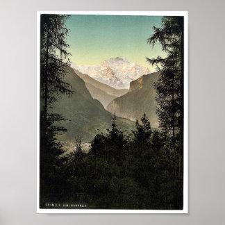 Interlaken, hoteles, Bernese Oberland, Suiza Póster