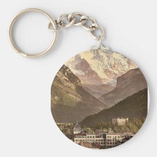 Interlaken, hotels, Bernese Oberland, Switzerland Keychain