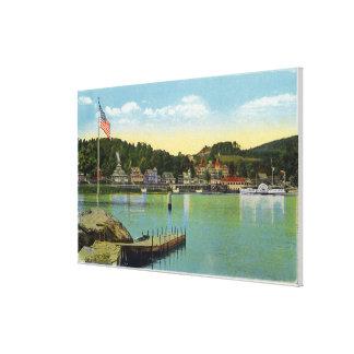 Interlaken Park View of the Weirs Canvas Print
