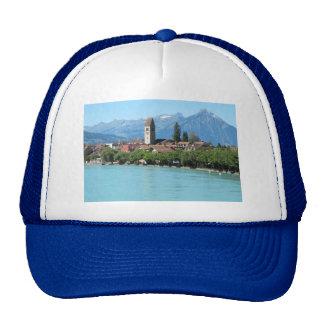 Interlaken, Unterseen village and church Trucker Hat