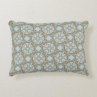 Interlocked Celtic Pattern Black and Cream Decorative Pillow