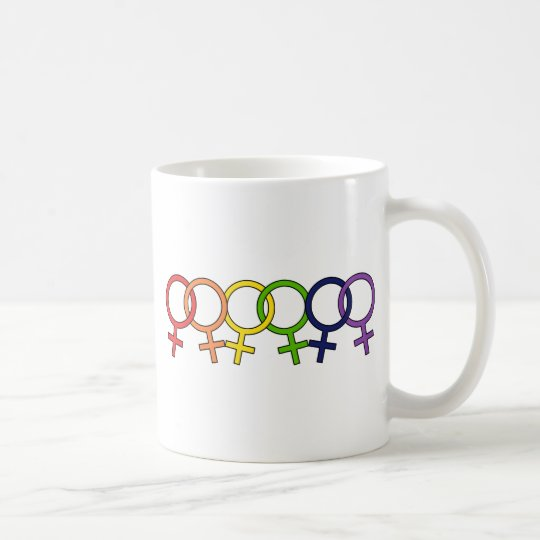Interlocked Female Rainbow Coffee Mug