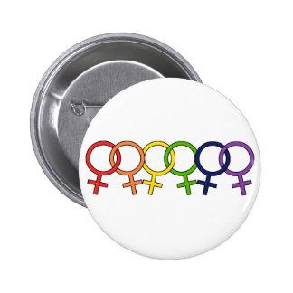 Interlocked Female Rainbow Pin