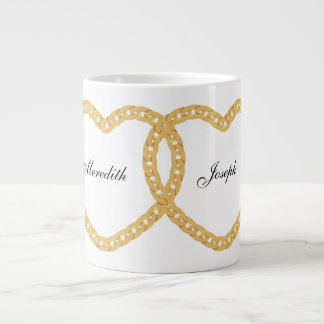 Interlocked Hearts Personalized Coffee Mug