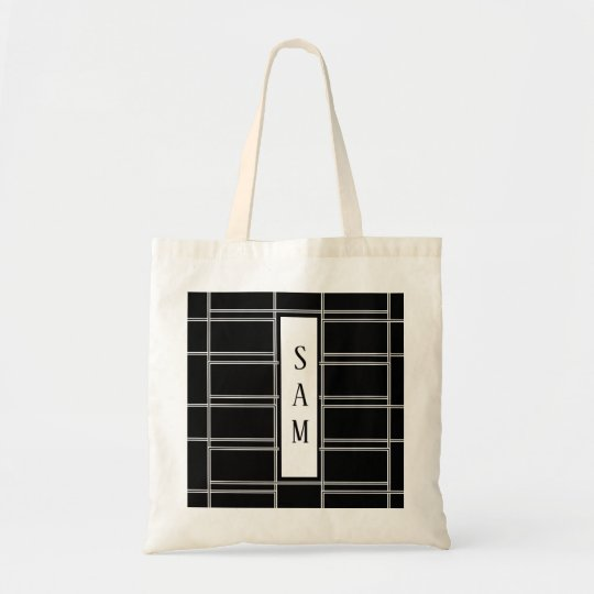 Interlocking black white rectangle ladder template tote bag zazzle interlocking black white rectangle ladder template tote bag maxwellsz