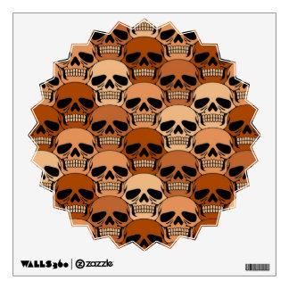 Interlocking Brown Skull Pattern Room Graphics