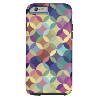 Interlocking Circles Geometric Pattern Tough iPhone 6 Case