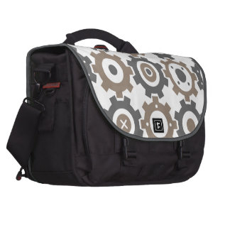 Interlocking Gears Pattern Computer Bag