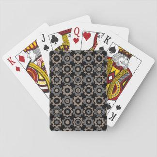 Interlocking Gears Pattern Playing Cards