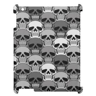 Interlocking Grey Skull Pattern iPad Cases