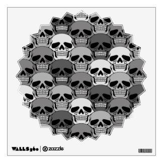 Interlocking Grey Skull Pattern Wall Graphic