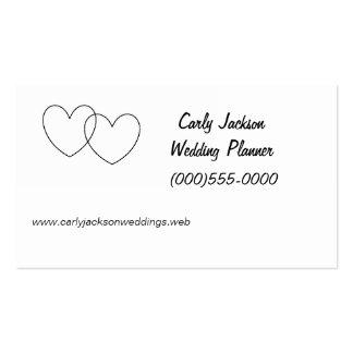 """Interlocking Hearts"" Business Cards"