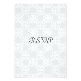 Interlocking Hearts Flower White RSVP Card