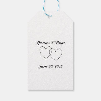 """Interlocking Hearts"" Gift Tags"