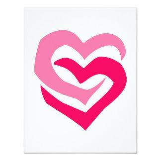 Interlocking Hearts 4.25x5.5 Paper Invitation Card