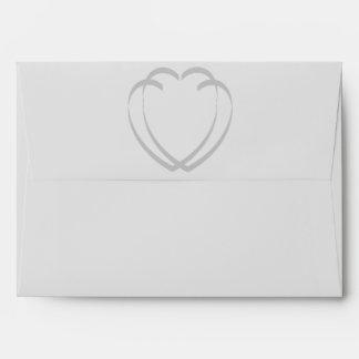 Interlocking Hearts Invitation Envelope