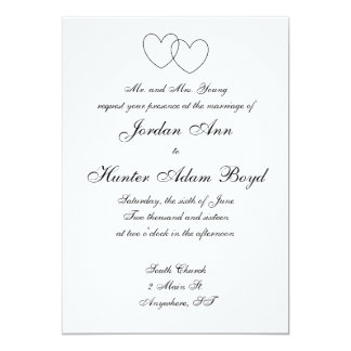 """Interlocking Hearts"" Invitations"