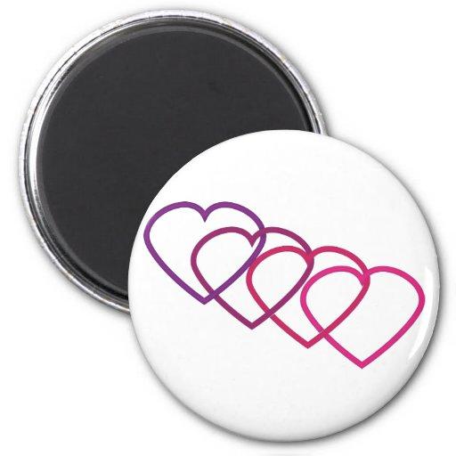 interlocking hearts magnet