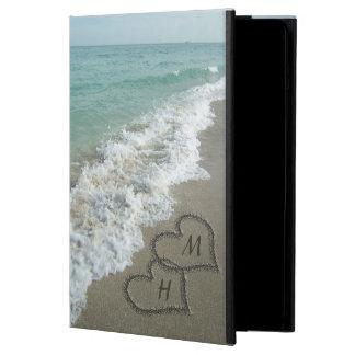 Interlocking Hearts on Beach Sand iPad Air Cases