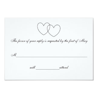 """Interlocking Hearts"" Response Cards"