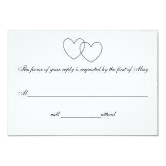 """Interlocking Hearts"" Response Cards"