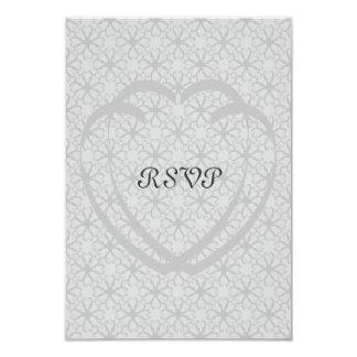 Interlocking Hearts RSVP Cards