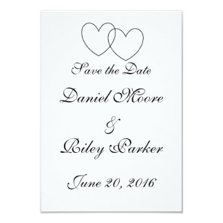 """""""Interlocking Hearts"""" Save-the-Date Cards"""