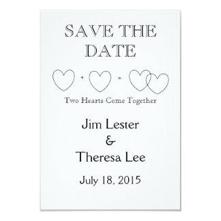"""Interlocking Hearts"" Save the Dates Card"